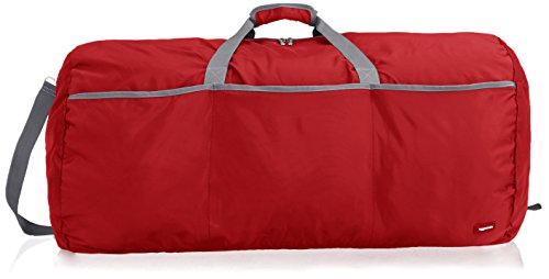 AmazonBasics Large Duffel Bag Red
