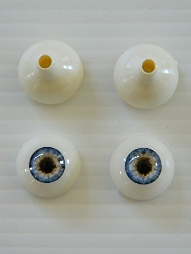 Pair of Realistic Human/Zombie Acrylic Eyes for Halloween PROPS, MASKS, DOLLS (Infected Blue 26mm)]()