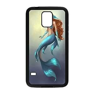 DIY SamSung Galaxy S5 I9600 Case, Zyoux Custom New Design SamSung Galaxy S5 I9600 Plastic Case - Mermaid