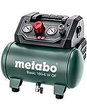 Metabo Compressor Basic 160-6 W OF (ketel 6 l, max. druk 8 bar, aanzuigvermogen 160 l/min, vulvermogen 65 l/min, max. toerental 3500 /min, compact design) 601501000