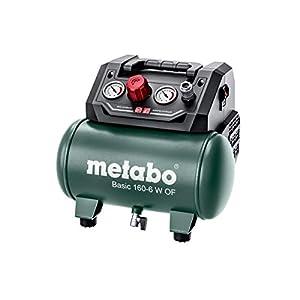 metabo 4061792174061 601501000-Compresor Basic 160-6 W of Potencia 0,9 Kw calderín 24 l, Negro