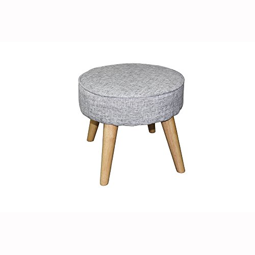 ORE International HB4662 Mid-Century Foot Stool, 13.5″, Old World