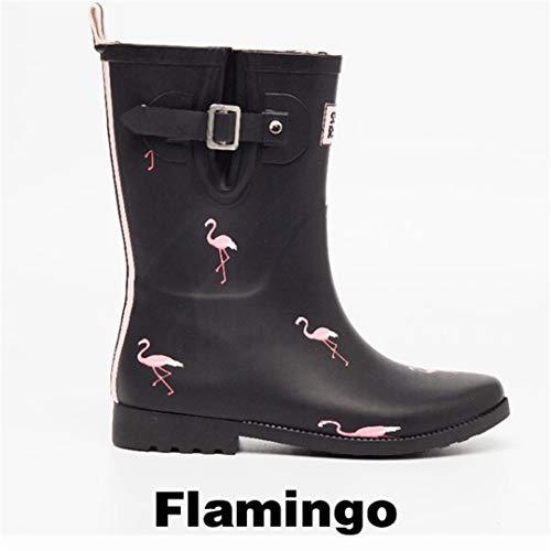 flamingo rain boots - 9