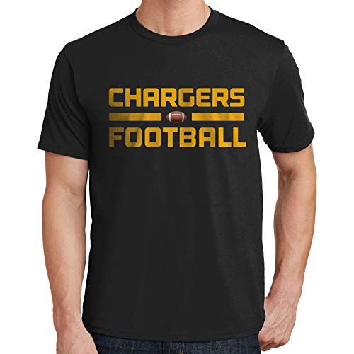 Bluejack Clothing Chargers Football Mens T-Shirt Sports Team 3272 (4X-Large,Black)