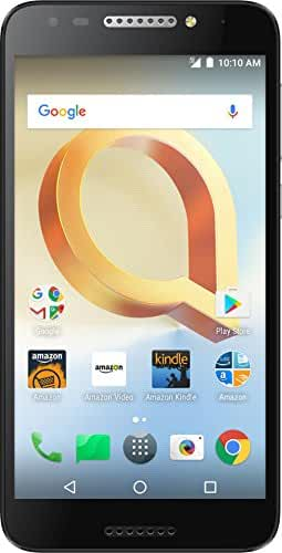Alcatel A30 PLUS - 16 GB - Unlocked (AT&T/T-Mobile) - Black - Prime Exclusive - with Lockscreen Offers & Ads