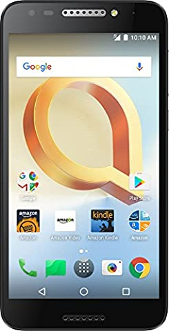Alcatel A30 PLUS - 16 GB - Unlocked (AT&T/T-Mobile/Verizon) - Black - Prime Exclusive - with Lockscreen Offers & (Verizon Compatible Android Phone)