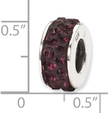 Sterling Silver Reflections Dark Maroon Double Row Elements Bead