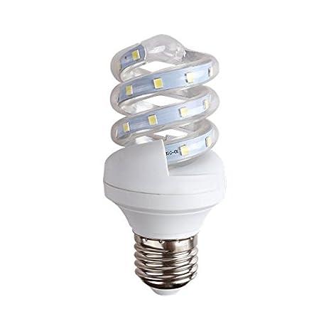 LineteckLED® - Bombilla LED en espiral, con casquillo E27, 9W, luz fría 6400K, 230V, alta luminosidad, cód. A03.006.09F: Amazon.es: Iluminación