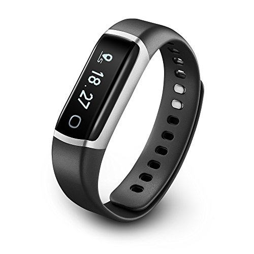 TicBand, Fitness Tracker, 24/7 Activity Tracking with Heart Rate Monitor, Automatic Sleep Tracking (Gray)