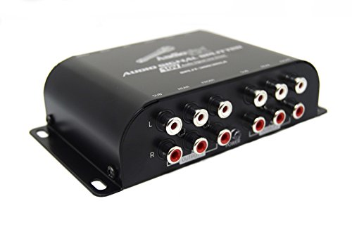 3 Way Cross Over Line Driver Split-3003RCA 10V Front Rear Sub Amplifier 9 Output