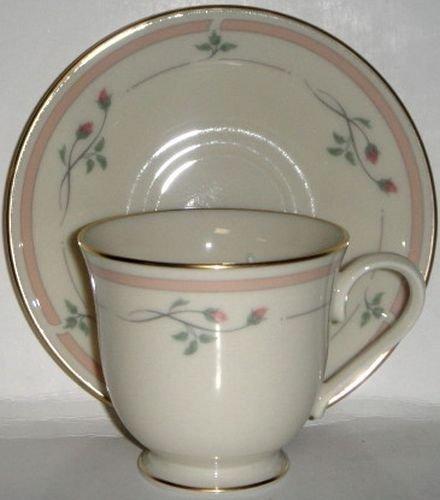 (Lenox Rose Manor Pink Cup and Saucer Set (Flat) )