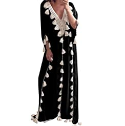 Women Boho Loose Kaftan Oversized Sundre...