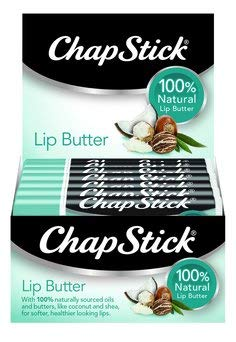 ChapStick 100% Natural Lip Butter, Green Tea Mint, 0.15 oz (Pack of 12) ()