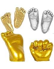 narratorbook Baby Handprint and Footprint Kit 3D Keepsake Plaster Casting Kit DIY Memory Hands Bucket Kit