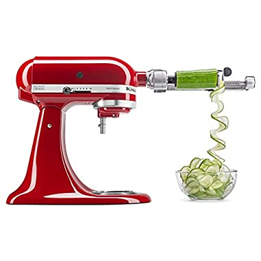 KitchenAid KSM2APC Spiralizer Plus Attachment with Peel, Core & Slice, Silver