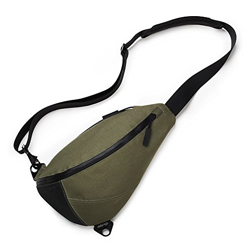 KEEP PURSUING KP Sling Bag Army Green with Orange Interior ...