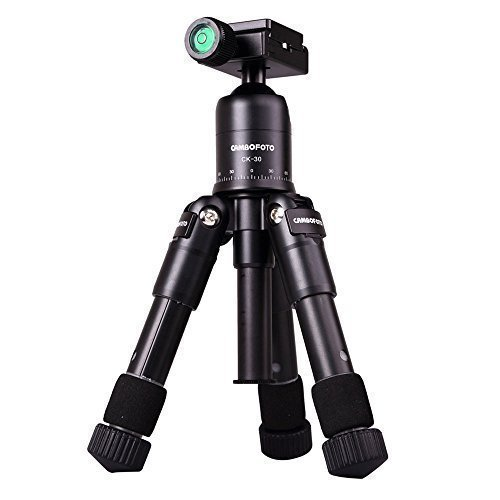 AFAITH Ultra Tragbare Folding Aluminiumlegierung Mini - Stativ Stative Kompakte Tabletop - Makro - Kit mit CK-30 ball Kopf für Canon Nikon DSLR-Kamera Schwarz