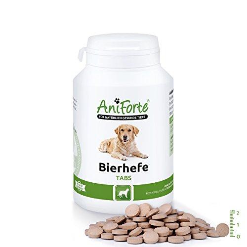AniForte Bierhefe Tabs 250 Stk. - Naturprodukt für Hunde für glänzendes Fell und gesunde Haut