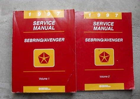 1997 Chrysler Sebring Dodge Avenger Service Manual Set (service manual set volume 1 and ()