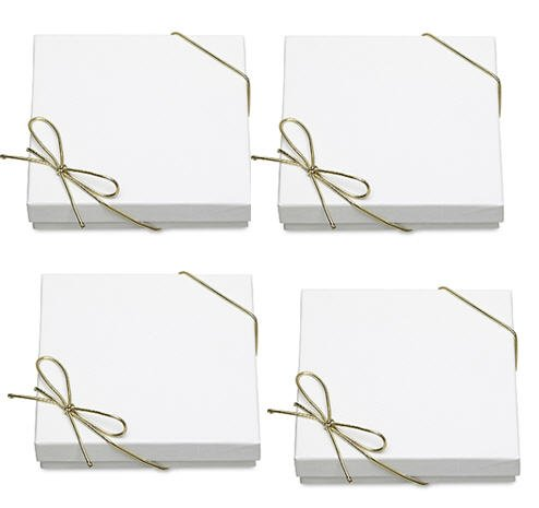 10pack Bracelet Jewelry Gift Boxes with Filler and Bow Strin
