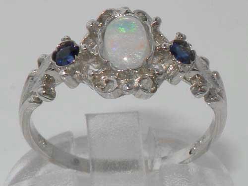 925 Sterling Silver Real Genuine Opal /& Garnet Womans Eternity Ring