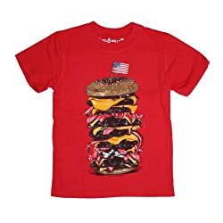 Wes & Willy Little Boys' Mega Burger Short Sleeve Tee