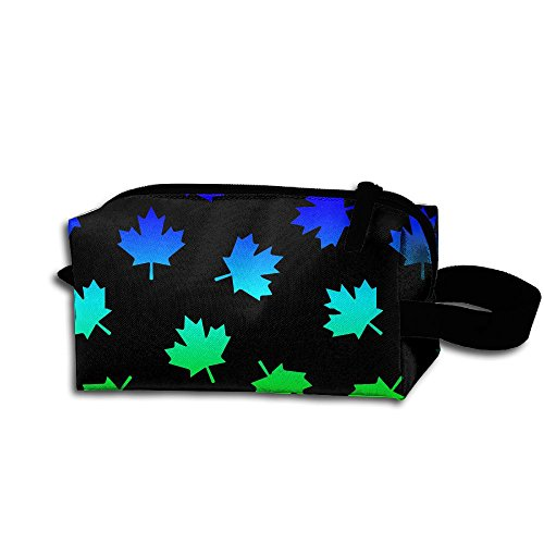 Canadian Leaf Pattern Vector Art Illustration Travel Cosmetic Bag Portable Organizer Multifuncition Handbag (Briefs Equip)
