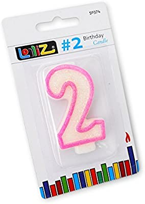 LolliZ Number Candle 2 Second Birthday