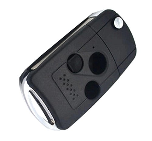 Car Uncut Folding Flip Remote Entry FOB Key Case Shell Compatible with 2003 - 2013 HONDA Accord Replacement 3 Button