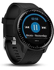 Garmin Vivoactive 3 Música, reloj inteligente GPS con almacenamiento de música, Wi-Fi, negro con hardware inoxidable - en todo el mundo (renovado)