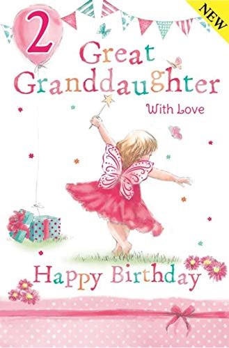 Cutest Granddaughter Age 2 Large Luxury 2nd Birthday Card Grass Roots