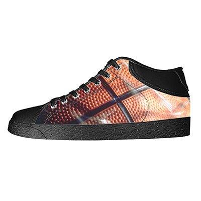 Custom Basketball Mens Classic High Top Canvas Shoes Fashion Sneaker (Shoes America Basketball Captain)