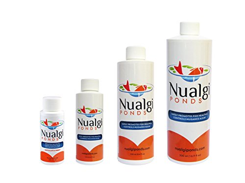 Nualgi Ponds Algae Control Natural Pond Clarifier - 500 ml with BONUS Promotional Go Water Gardens Magnet (500 Ml Pond Clarifier)