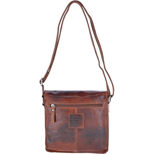 Vintage Flight 84 Tan Bag Shoulder Ashwood F Leather Size One qS1c6