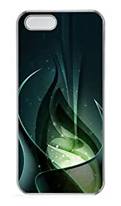 iPhone 5S Cases & Covers -3D Green Consciousness And Beautiful Abstract Custom PC Hard Case Cover for iPhone 5/5S ¨CTransparent
