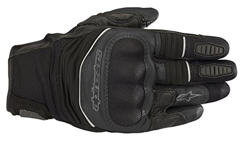 Jeans Gloves - Crosser Air Touring Street Motorcycle Riding Glove (L, Black Black)