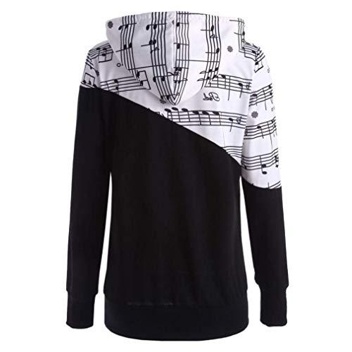 Élégant À ⋐⋑ Femmes Sweat Imprimer Capuche Pull Chemisier shirts Longues Route Top Vêtements T T Splicing Zhrui Manches En Vrac Hauts De shirt Memo wCxfUqn