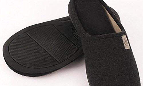 W Zapatos Algodón Alto Zapatillas amp;XY interior hombres Calentar Calentar Color sólido Acogedor elasticidad de Invierno 40 Casa los rw18wanIqp