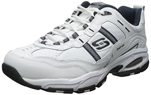 (Skechers Sport Men's Vigor 2.0 Serpentine Oxford,White/Navy,9 2E US)