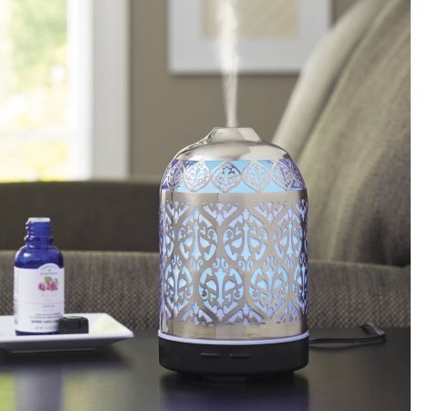 Better Homes and Gardens Essential Silver Oil Diffuser, Delicate Filigree (Delicate Filigree)