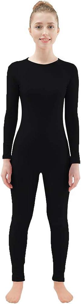 Ensnovo Adult Lycra Spandex One Piece Unitard Full Body Suit Dance Costumes 41AbyphmZTL