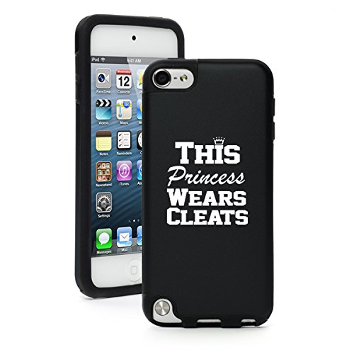 For iPod Touch 5th 6th Aluminum Silicone Case Princess Wears Cleats Softball