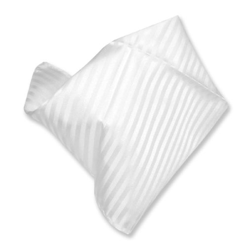 WHITE Striped Pattern Hankerchief Pocket Square Hanky Men's Handkerchiefs