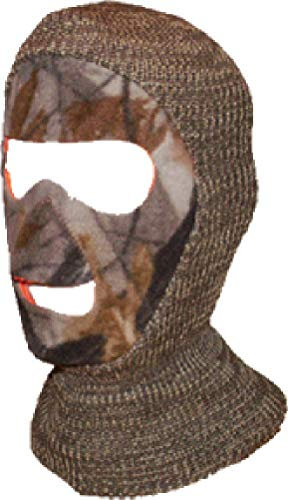 Quietwear Men's Reversible Camo Facemask, All All Purpose Grey, One Size