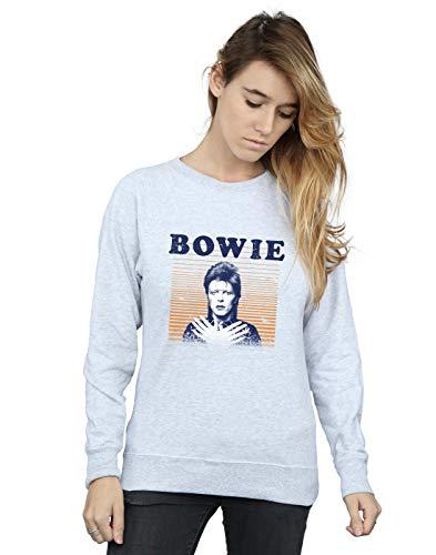 Mujer Bowie Deporte Orange Absolute Gris Cult Camisa Stripes Entrenamiento De David q6qTt