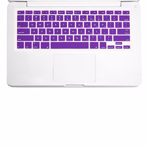 TOP CASE - Keyboard Silicone Skin Cover Compatible with Apple MacBook 13 13.3 (1st Generation/A1181) with TOP CASE Mouse Pad - Purple