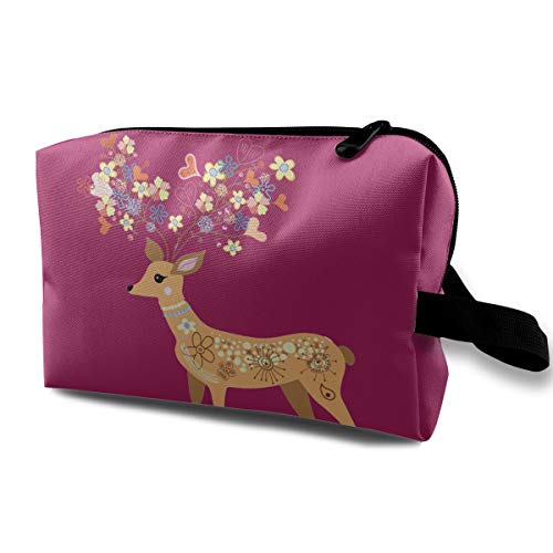 Animal Multi-functional Travel Cosmetic Bag Cute Deer ()