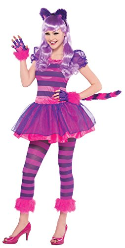 (Teen Girls Purple Cheshire Cat Costume (JR Small)