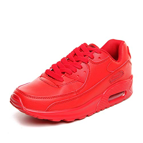 Glad You Came Women Running Shoes 2019 New Outdoor Men Sport Shoes Breathable mesh Soft Athletics Jogging Sport Women Sneaker Shoes Woman,02 Red Pu,5.5 ()