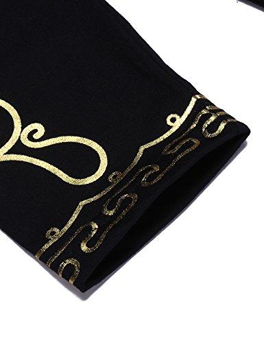 JINIDU Men's African Dashiki Shirt Metallic Floral Printed Tops Blouse by JINIDU (Image #5)